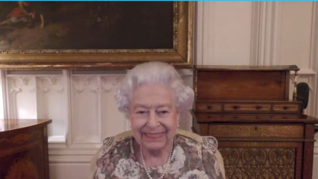 The Queen smiles as she has a virtual call with New Zealand's new governor-general, Dame Cindy Kiro.