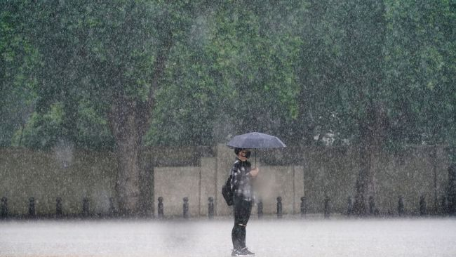 The capital saw nearly a month's worth of rainfall on Sunday with homes, roads and Tube stations flooded