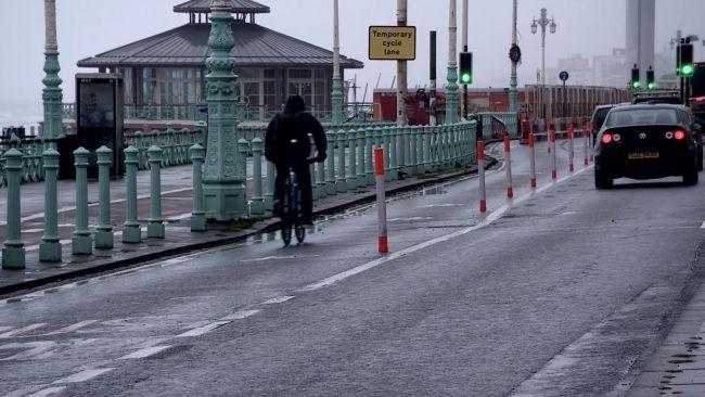 Cycle lane Brighton