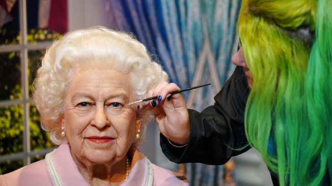 Wax figure of the Queen at Madame Tussauds Blackpool
