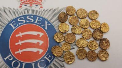 Two-dozen iron age gold coins