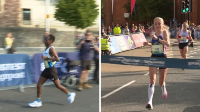 Omer Ahmed and Chloe Richardson were the first male and female winners of the half-marathon