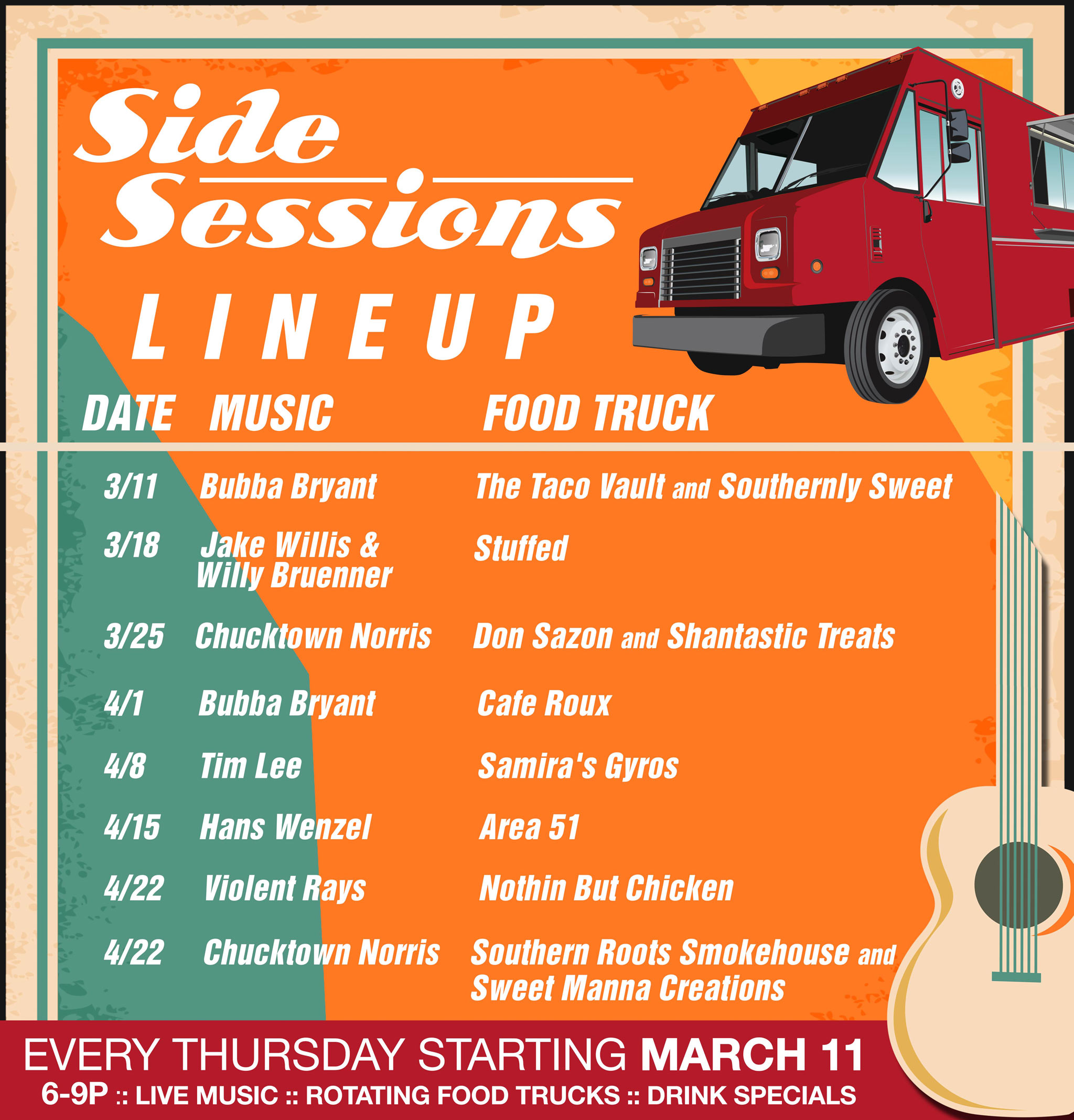 Side Sessions Thursday Lineup