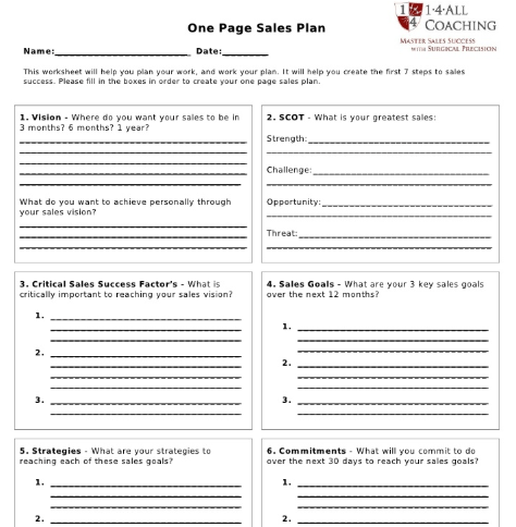A Guide To Writing A Sales Plan That Wins Revenue Free Template Leadfeeder