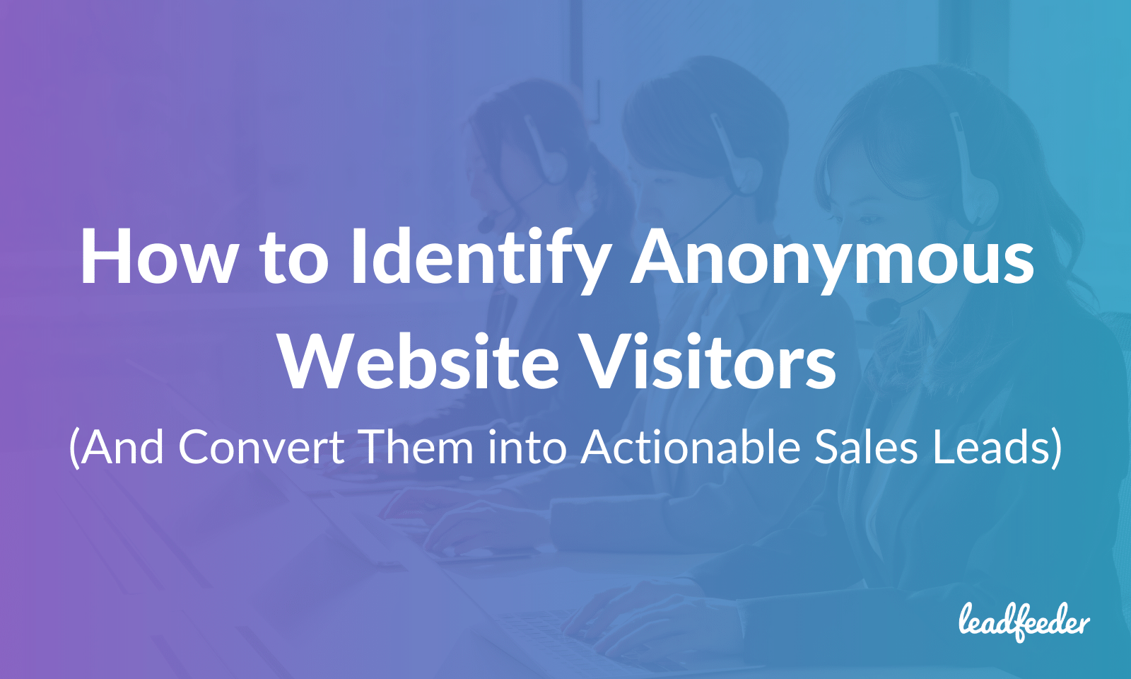identify website visitors header