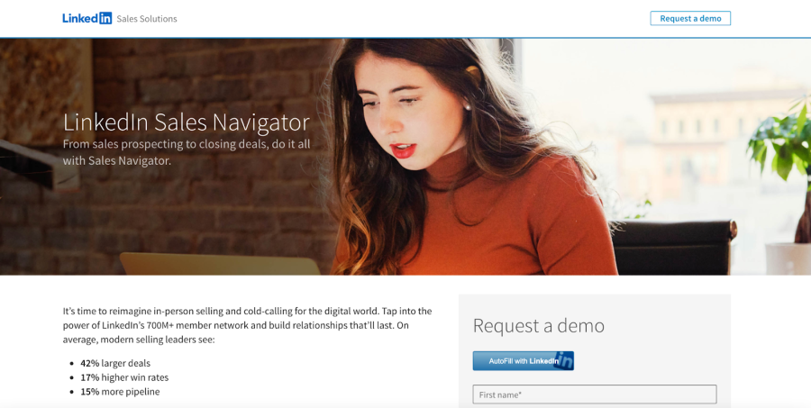 LinkedIn Sales Navigator website