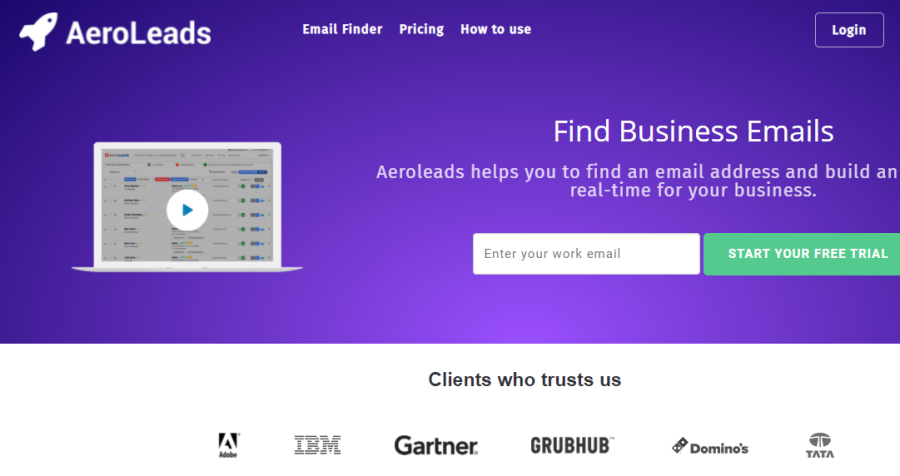AeroLeads lead generation tool