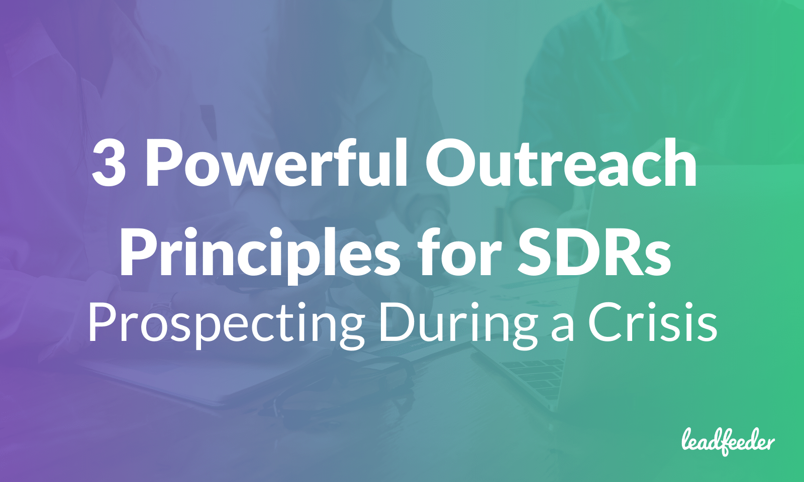 SDR outreach during COVID-19