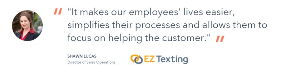 customer feedback ez texting