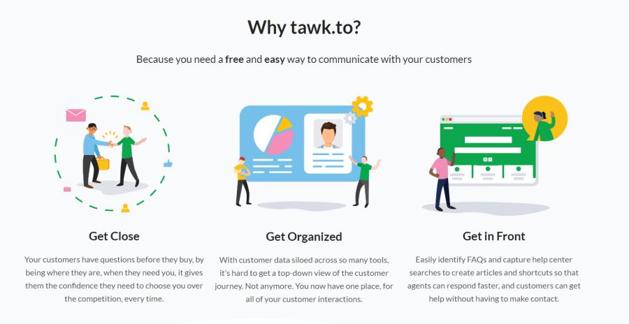 Tawk.io product screenshot