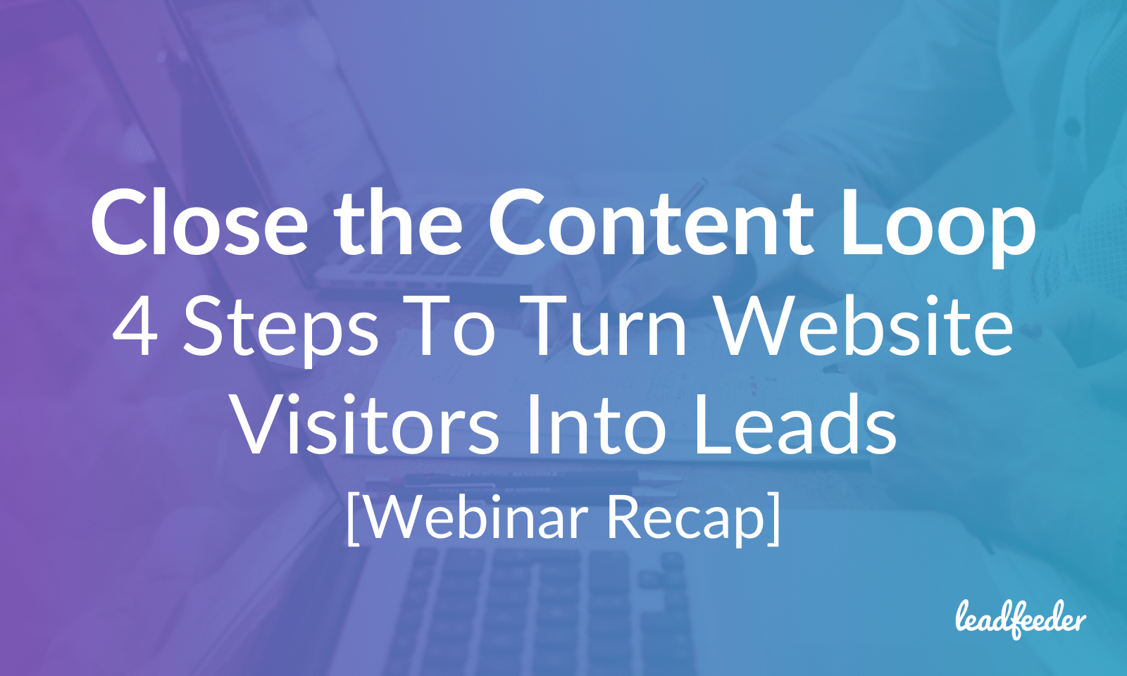 website visitors leads header