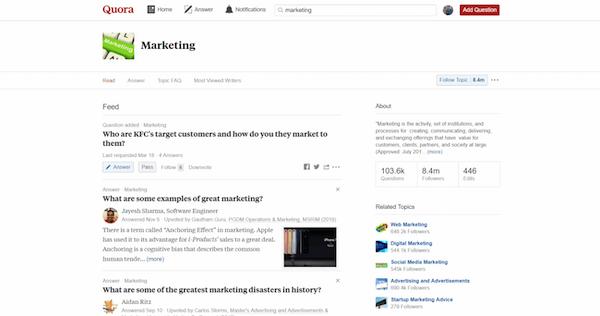 Quora lead generation tool screenshot