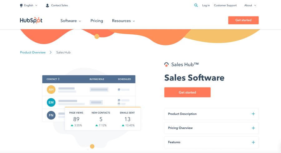 HubSpot Sales screenshot