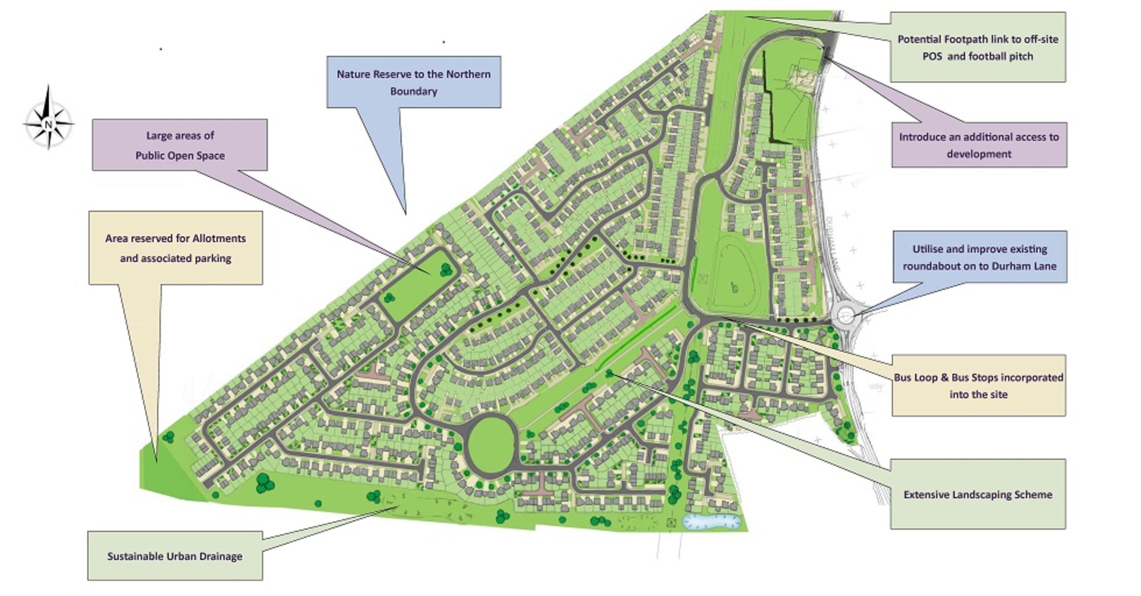 Carter Dene - proposed site layout