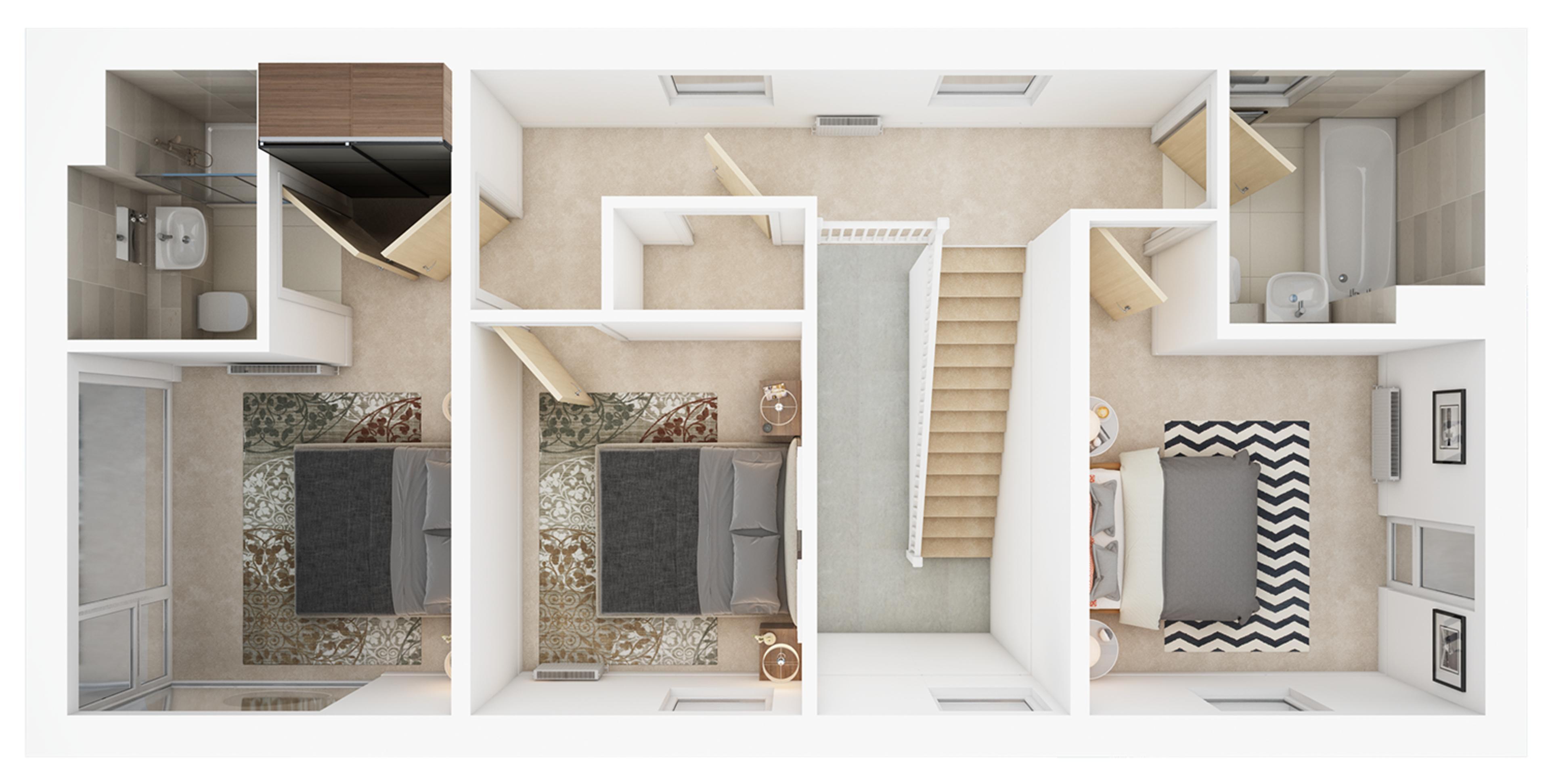Watling Grange > Calder > First floor