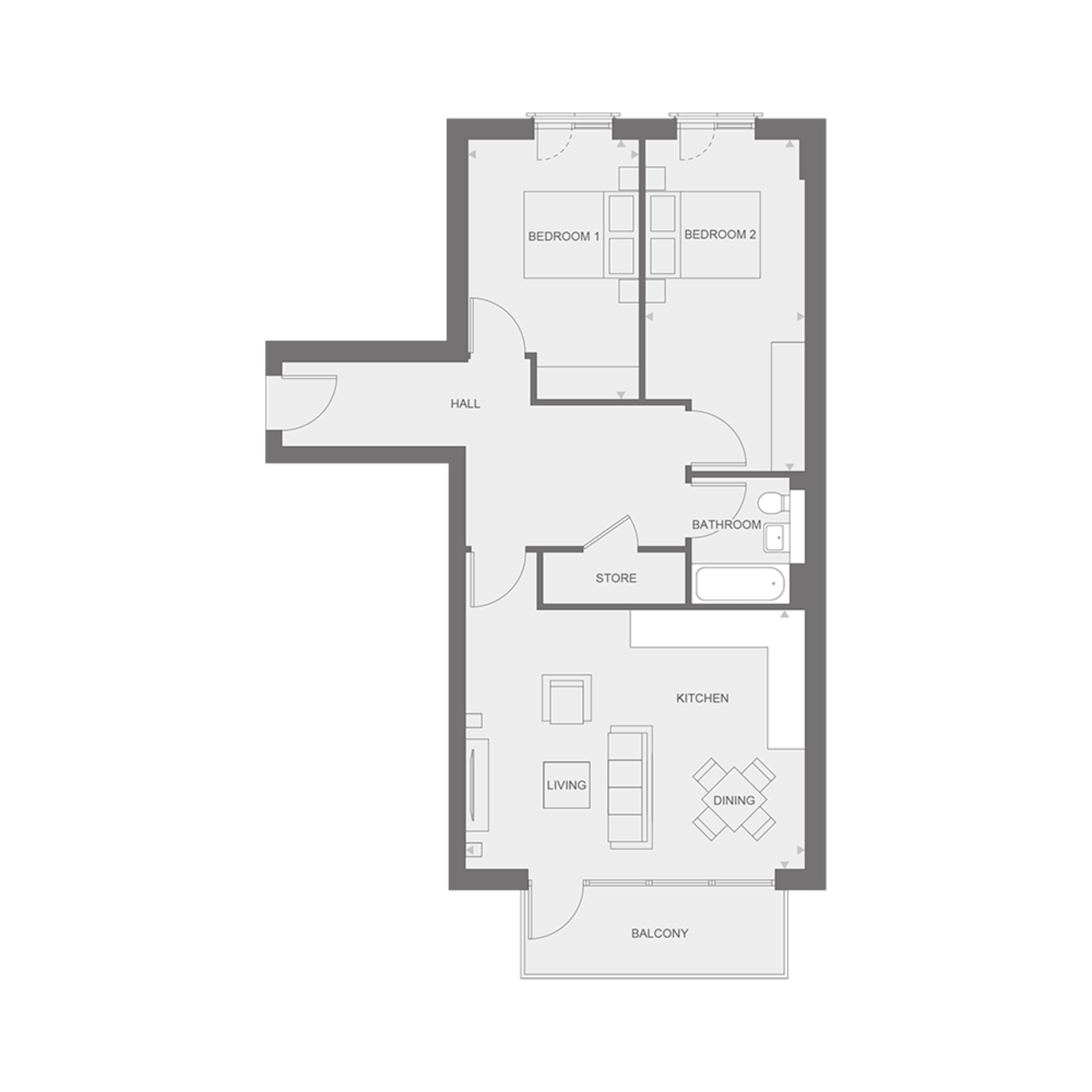Insignia Place - Two bedroom apartment - Type B