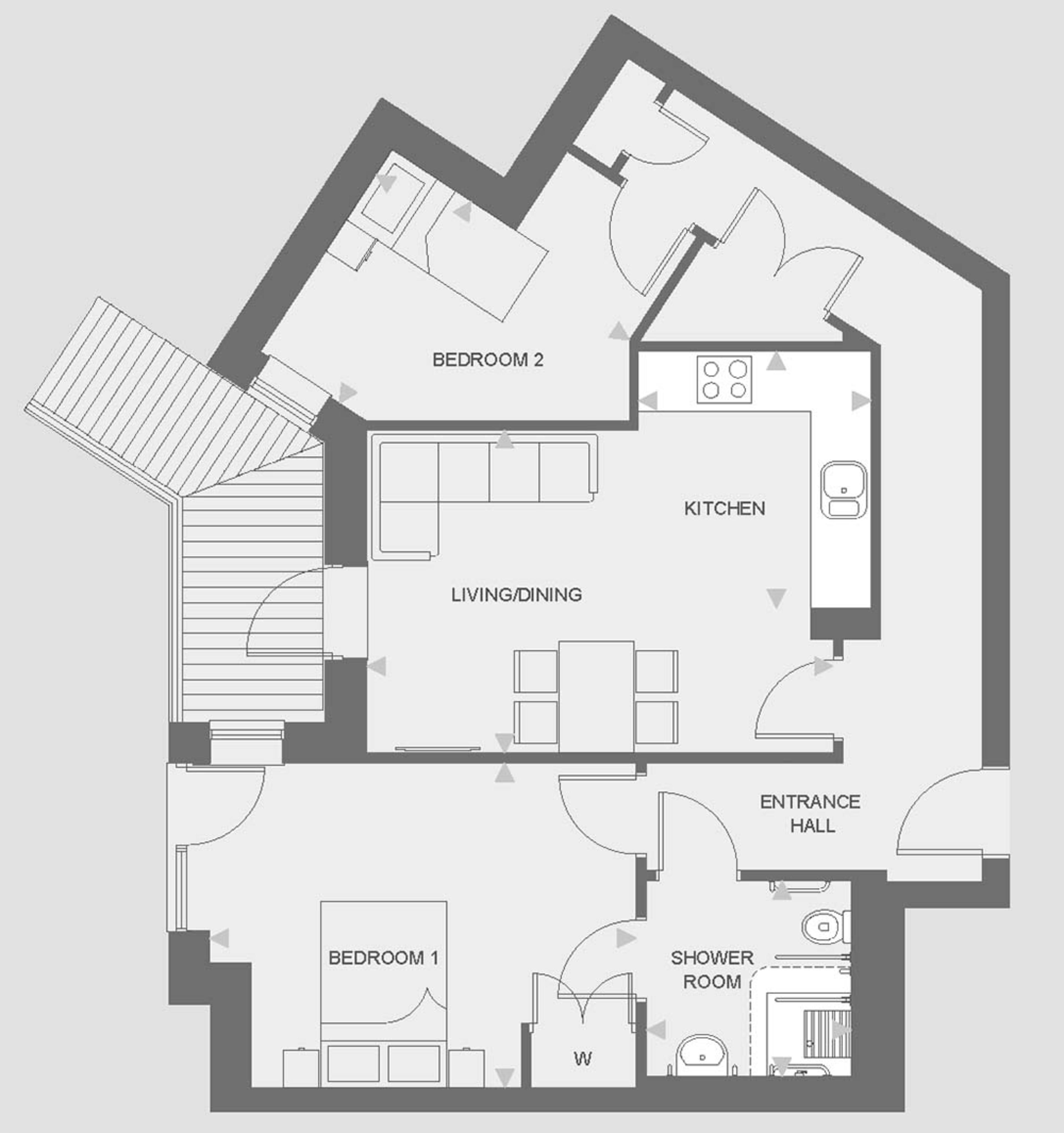 Huntley Place - Type F floor plan
