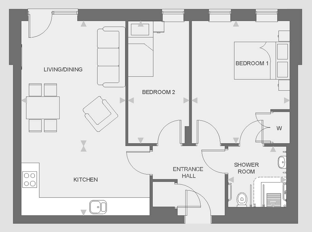 Huntley Place - Type D floor plan