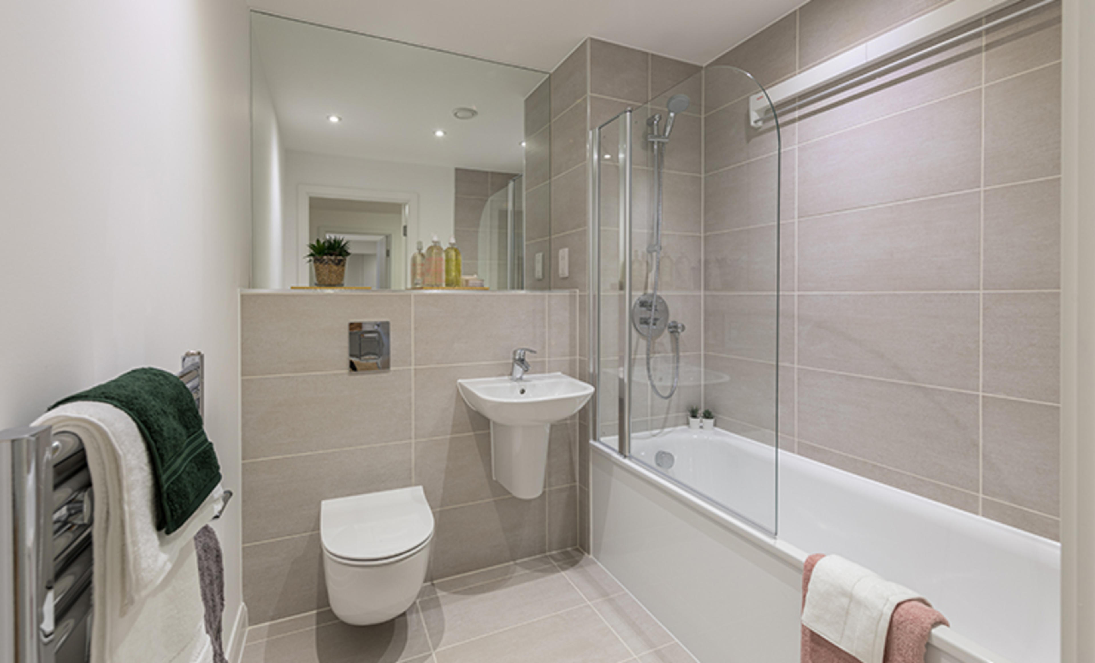 Franklin Court - new two bedroom apartment - bathroom