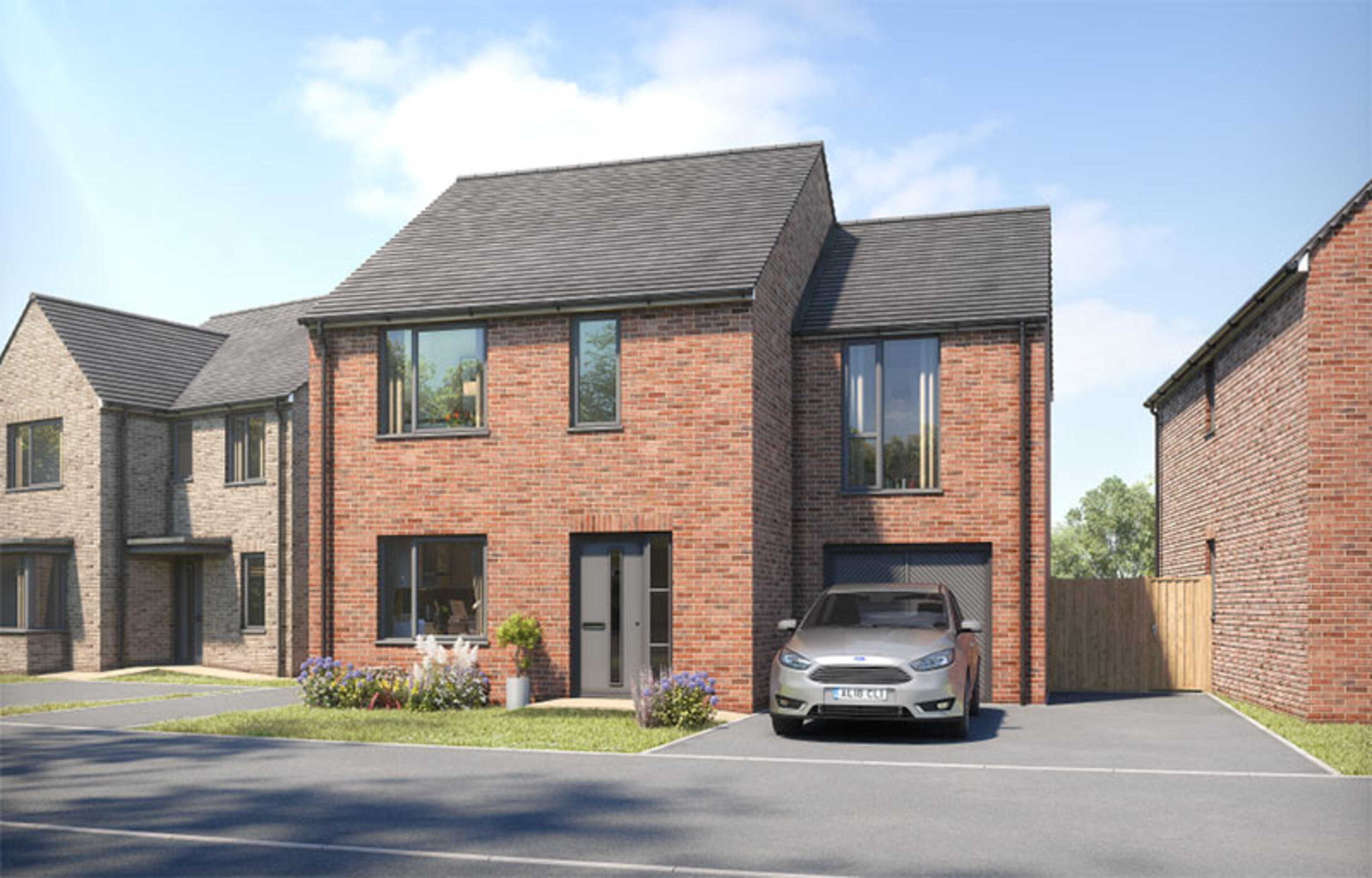 CGI of the Ravensworth - a new-build detached home with garage