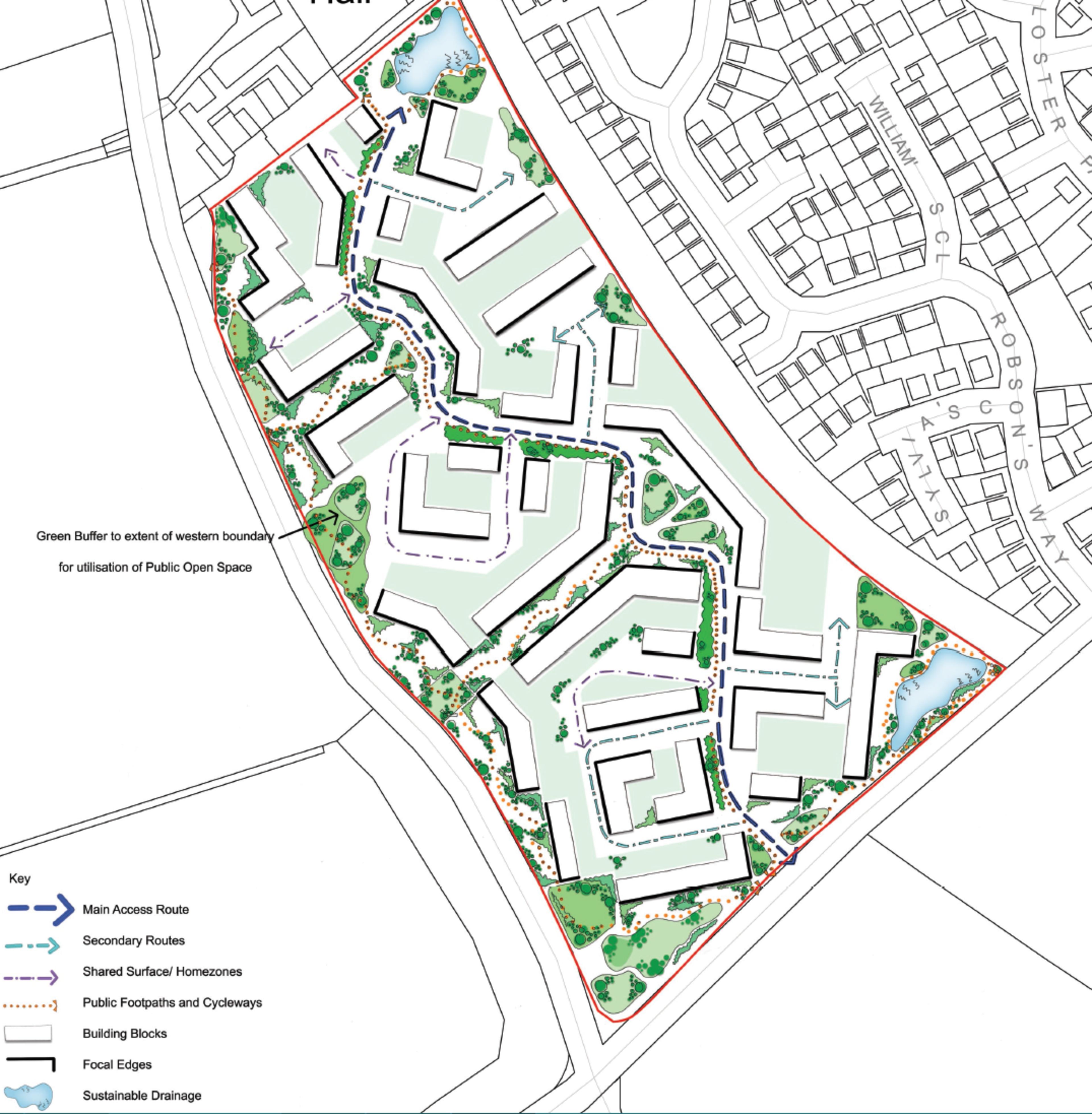 Longstone Manor - indicative site plan