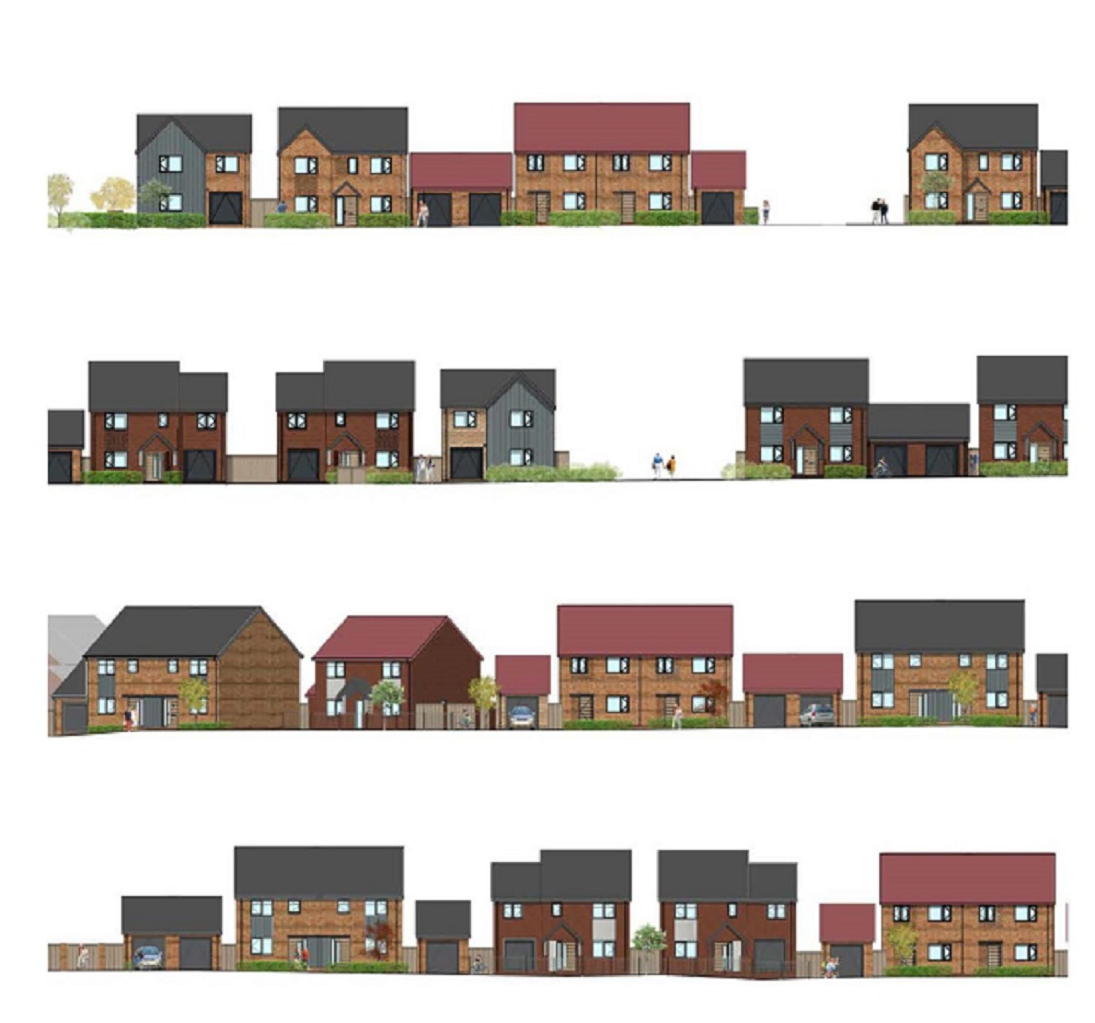 Carter Dene - proposed street scenes