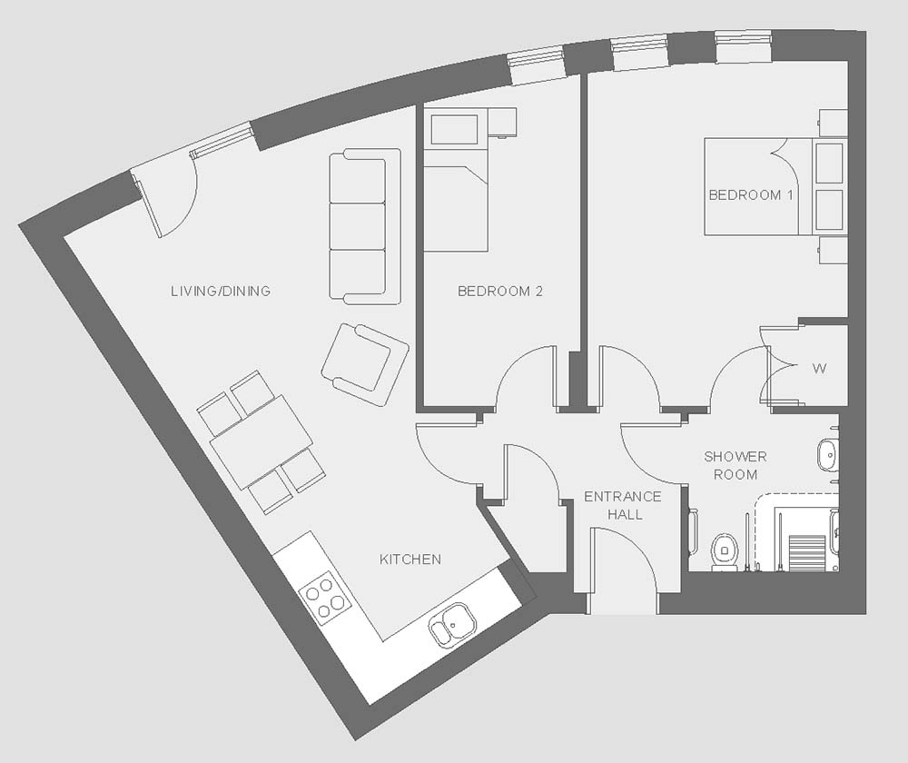 Huntley Place - Type G - Floor plan