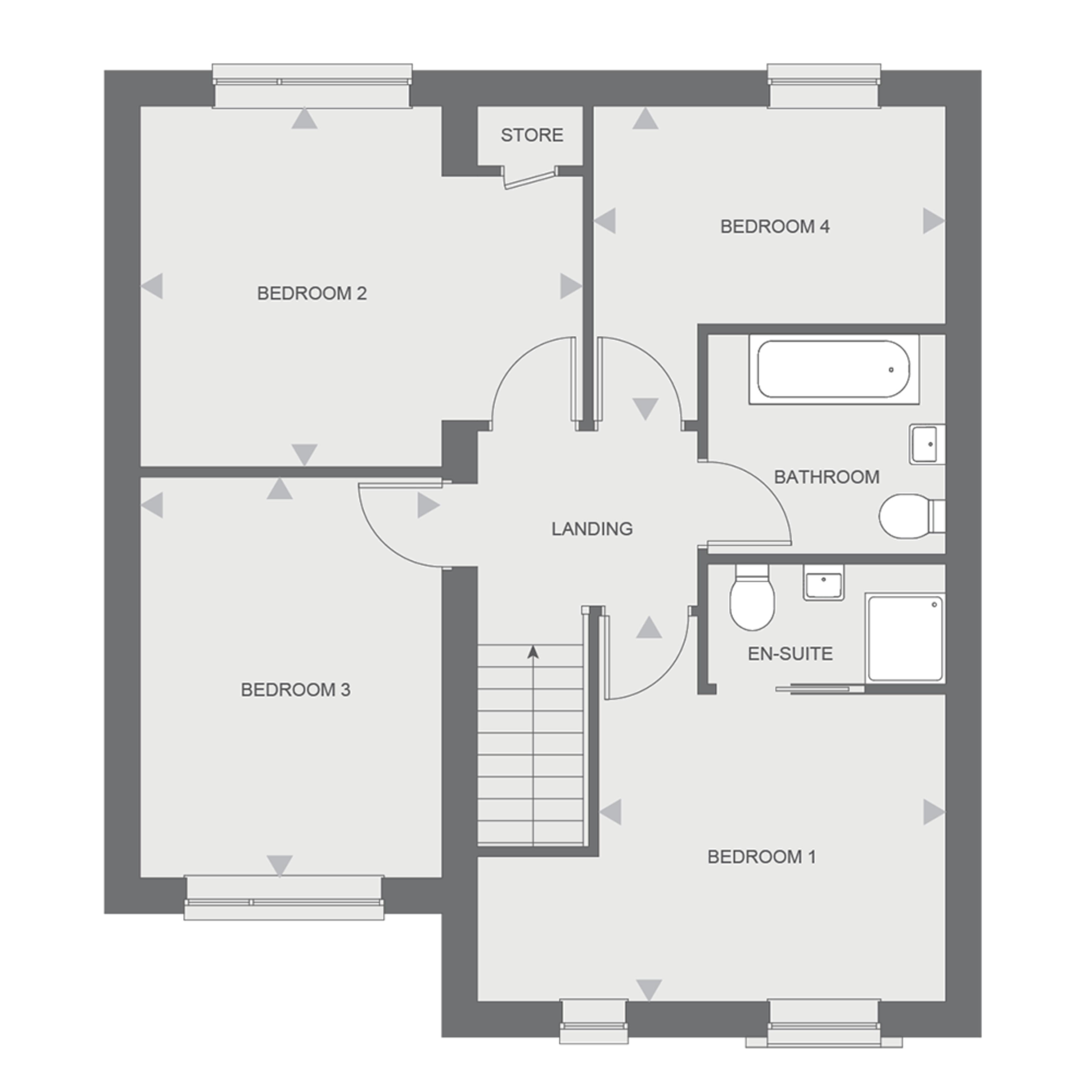 Langley First floor