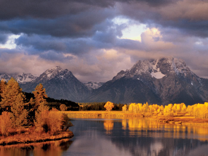 The Teton Range, Grand Teton National Park, Wyoming.