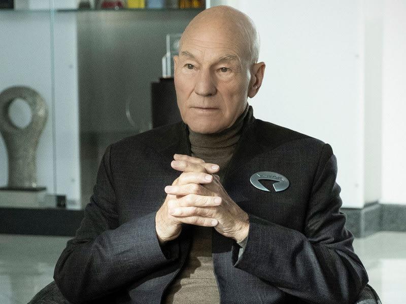 "Patrick Stewart in the television series ""Star Trek: Picard"" (2020)."