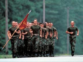 U.S. Marines in training, Parris Island, S.C.