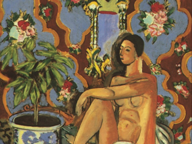 """""""Decorative Figure on an Ornamental Background,"""" oil painting by Henri Matisse, 1925-26."""