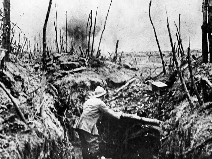 French infantryman on the Western Front