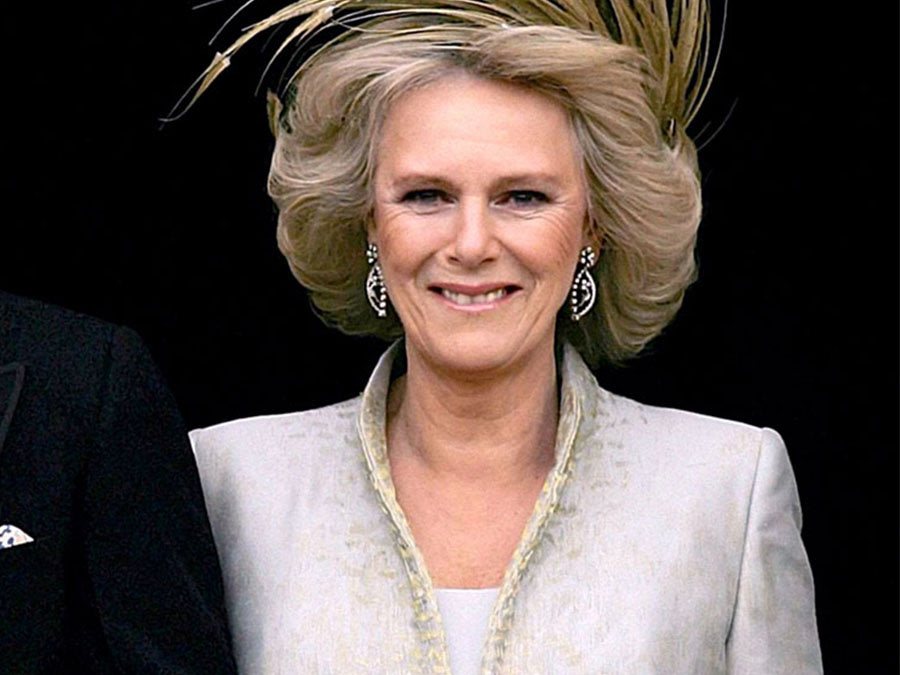 Camilla Parker Bowles after her wedding to Charles, prince of Wales on April 9, 2005. Alastair Grant, AP Images.