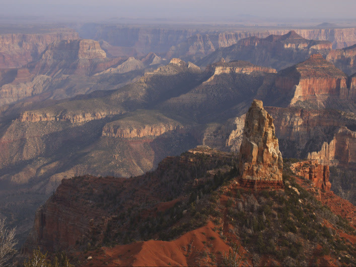 Mount Hayden as seen from Point Imperial, Grand Canyon National Park, northwestern Arizona.