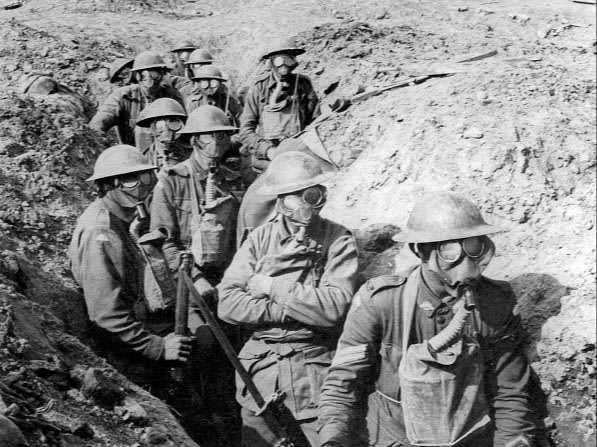 Australian troops in a trench during the Second Battle of Ypres