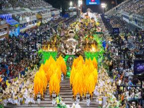 Carnival parade in Rio de Janeiro, 2014.
