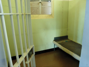 A replica of the Robben Island cell in which Nelson Mandela was imprisoned, at the Nelson Mandela Museum, Qunu, Eastern Cape province, South Africa.