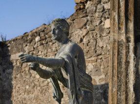Statue of Apollo from the Temple of Apollo, Pompeii, Italy.