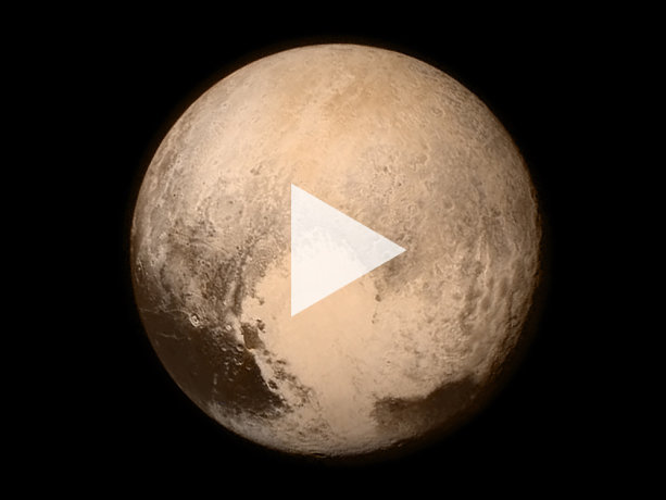 Pluto as observed by the New Horizons spacecraft, July 13, 2015.