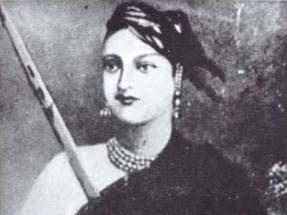 B/W image of Lakshmi Bai