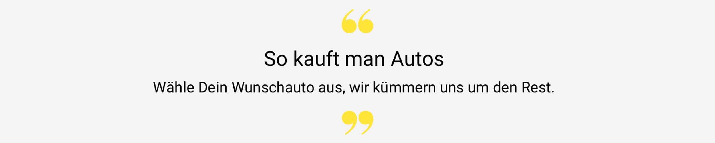 So kauft man Autos