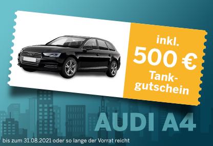 Audi A4 mit 500 € Tankgutschein