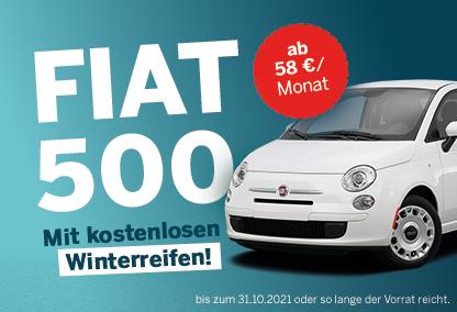 Fiat 500 mit kostenlosen Winterreifen