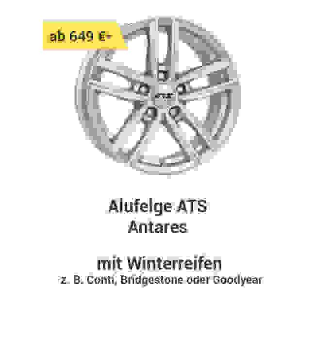 Alufelge ATS Antares  mit Winterreifen z.B. Conti, Bridgestone oder Goodyear ab 649 € *