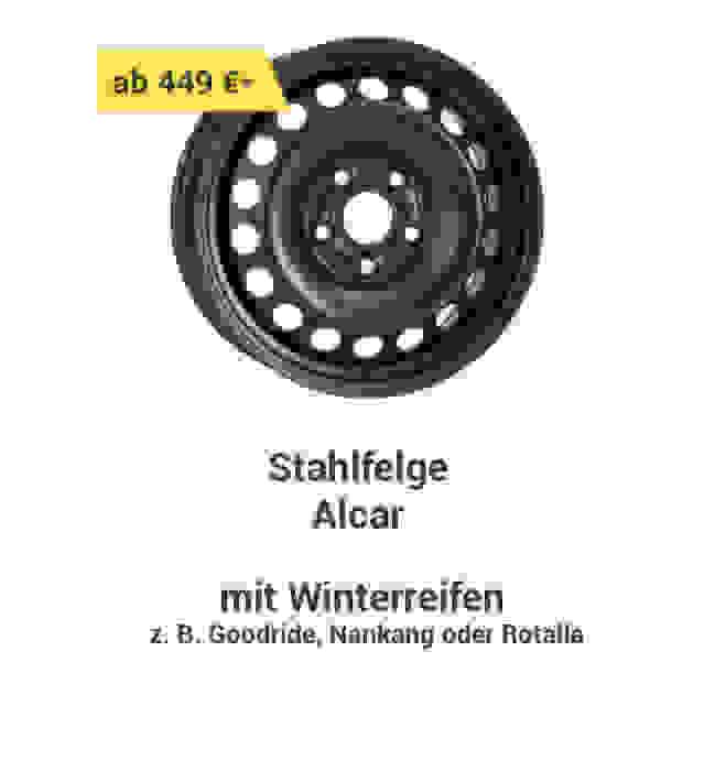 Stahlfelge Alcar mit Winterreifen z.B. Goodride, Nankang oder Rotalla ab 449 € *