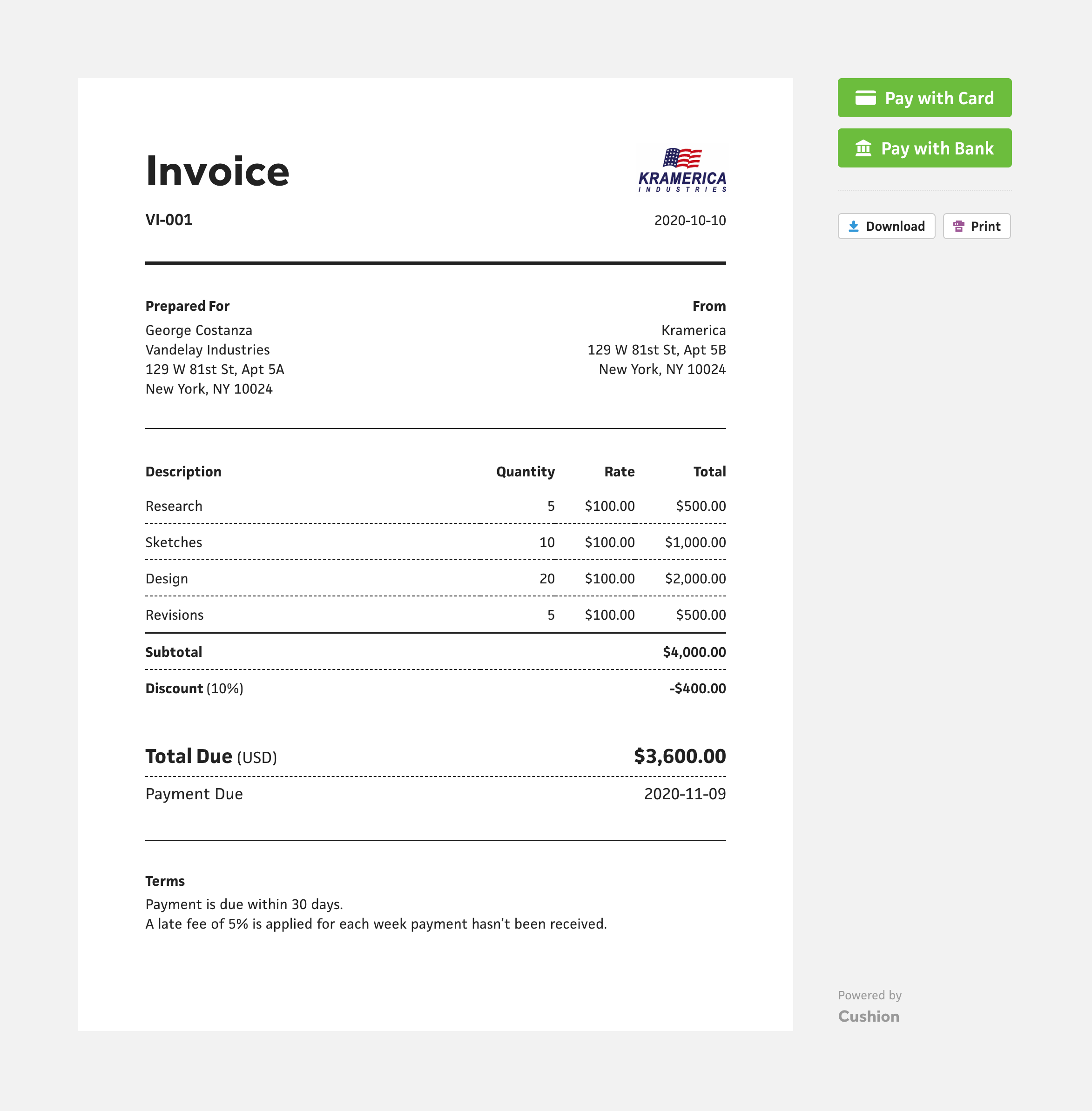 Feature Invoicing