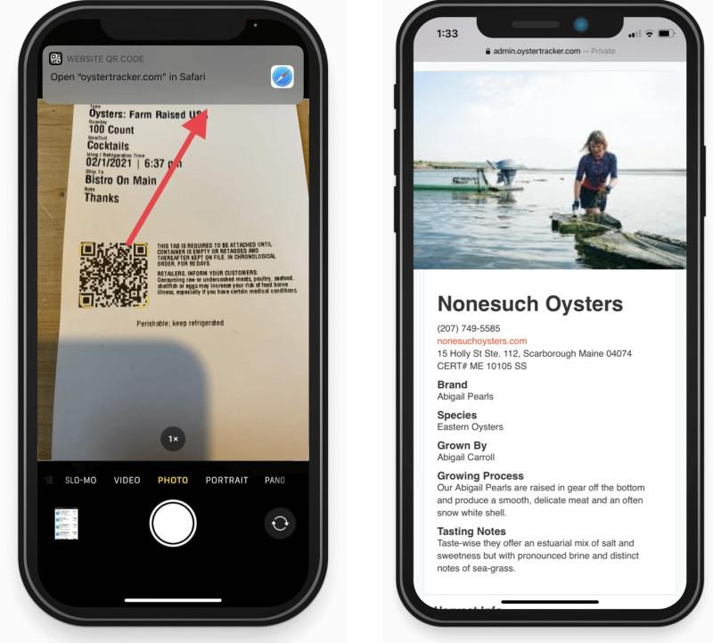 OysterTracker app