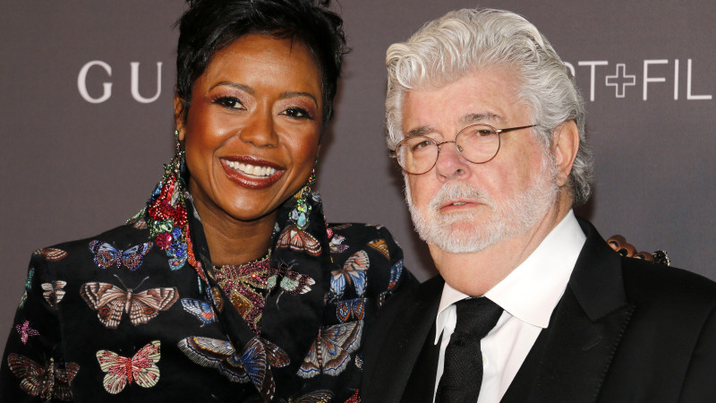 Starbucks new board chair Mellody Hobson and her Husband George Lucas. Credit: Shutterstock