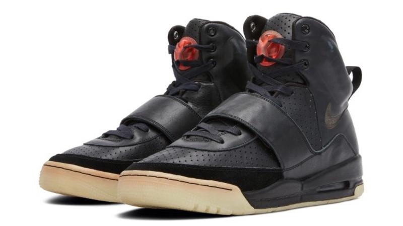 Kanye West 'Grammy Worn' Nike Air Yeezy 1 Prototypes. Image credit Sotheby's